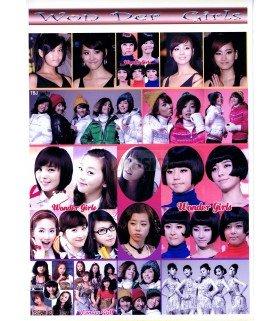 Sticker A4 Wonder Girls 001