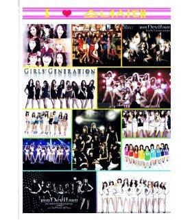Sticker A4 Girl's Generation (SNSD) 001